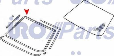 URO Parts Windshield Seal  Front
